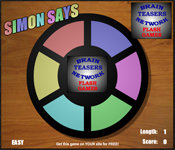 brainteasers network - simon game